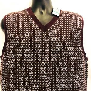 Haggar Mens Large Vest New Golf  Pullover Sweater